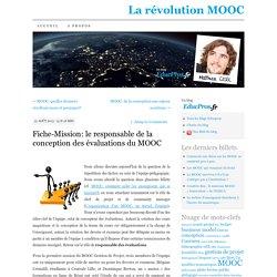 Fiche-Mission: le responsable de la conception des évaluations du MOOC