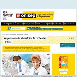 responsable de laboratoire de recherche - Onisep