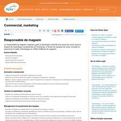 Responsable de magasin
