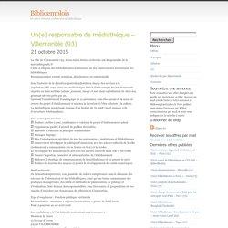 responsable de médiathèque – Villemonble (93)