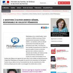 3 Questions à Olivier Andrieu-Gérard, responsable du collectif PédaGoJeux – Ministère des Familles, de l'Enfance et des Droits des femmes