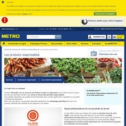 Commerce responsable : Produits responsables - METRO
