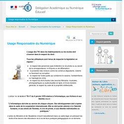 Usage Responsable du Numérique - Usages responsables du numérique - DANE Nice
