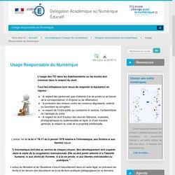 Usage Responsable du Numérique - Usages responsables du numérique - Accompagner l'usage du numérique - DANE Nice