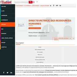 Responsable des ressources humaines - Fiches métiers sur L'Etudiant.fr