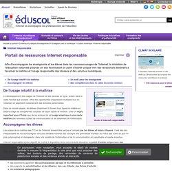 Internet responsable - Portail de ressources Internet responsable