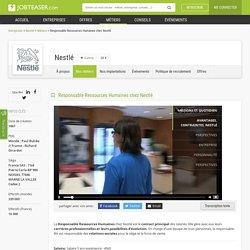 Responsable Ressources Humaines chez Nestlé