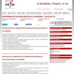 RESPONSABLE DE SECTEUR SERVICES A LA PERSONNE - TOULOUSE (31)