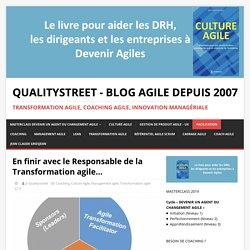En finir avec le Responsable de la Transformation agile... - Blog Agile depuis 2007