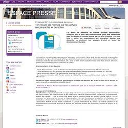 1er recueil de normes sur les achats responsables et durables / Les communiqués de presse / Espace presse / Groupe