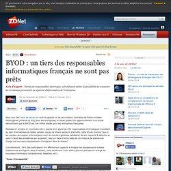 BYOD : un tiers des responsables informatiques français ne sont pas prêts