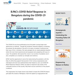 COVID Relief Response in Bengaluru during COVID-19 pandemic