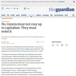 Response: No, Greens must not cosy up to capitalism. They must resist it