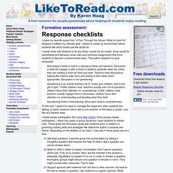 Response Checklists