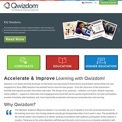 Audience Response Systems | Electronic Voting | Interactive Learning | Qwizdom