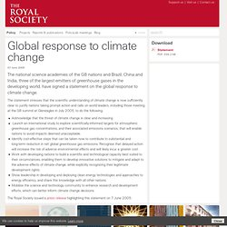 Joint science academies' statement: Global response to climate c