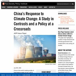 China's Response to Climate Change: A Study in Contrasts and a Policy at a Crossroads