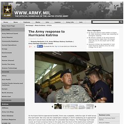 The Army response to Hurricane Katrina