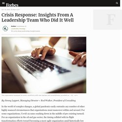 Crisis Response: Insights From A Leadership Team Who Did It Well