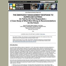 Quick Response Report 189