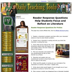 Reader Response Questions and Prompts for Fiction and Nonfiction
