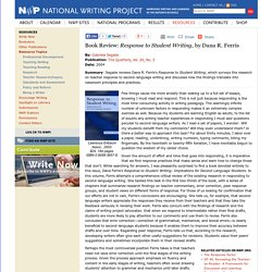 Book Review: <i>Response to Student Writing</i>, by Dana R. Ferris