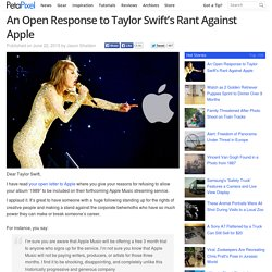An Open Response to Taylor Swift's Rant Against Apple
