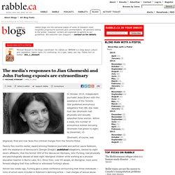 The media's responses to Jian Ghomeshi and John Furlong exposés are extraordinary