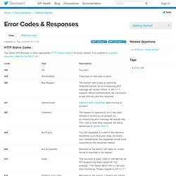 Error Codes & Responses