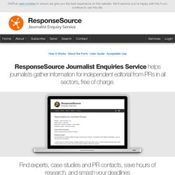 ResponseSource Journalist Enquiry Service