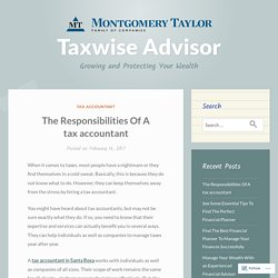 The Responsibilities Of A tax accountant