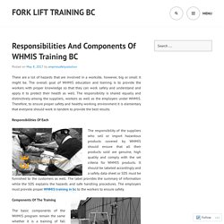 Responsibilities And Components Of WHMIS Training BC