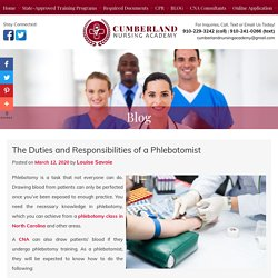 The Duties and Responsibilities of a Phlebotomist