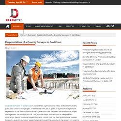 Responsibilities of a Quantity Surveyor in Gold Coast – DisFu