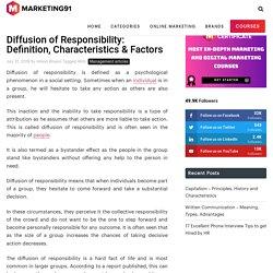 Diffusion of Responsibility: Definition, Characteristics & Factors