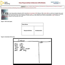 Introduction to Class Responsibility Collaborator (CRC) Models