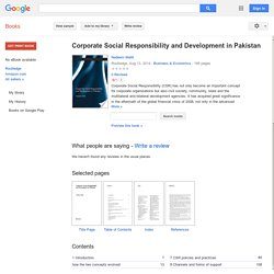 Corporate Social Responsibility and Development in Pakistan - Nadeem Malik - Google Books