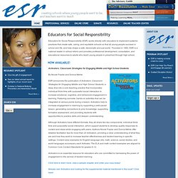 Educators for Social Responsibility (ESR) – Cambridge, Massachusetts