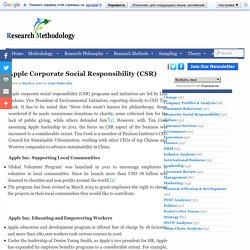 Apple Corporate Social Responsibility (CSR) - Research Methodology