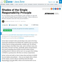 Shades of the Single Responsibility Principle