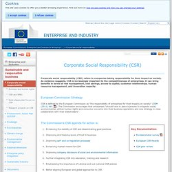 Corporate Social Responsibility (CSR) - Sustainable and responsible business - Enterprise and Industry