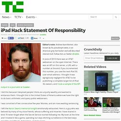 iPad Hack Statement Of Responsibility