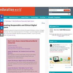 Help Kids Become Responsible Digital Citizens