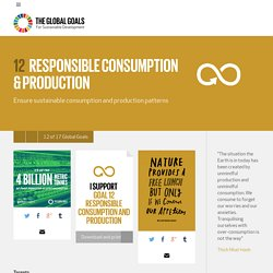 Goal 12: Responsible Consumption & Production