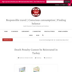 Death Penalty Cannot be Reinstated in Turkey