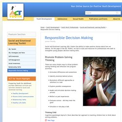 Responsible Decision Making - Social and Emotional Learning - ACT for Youth