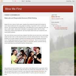 Blow Me First: Make safe and Responsible Decisions While Drinking