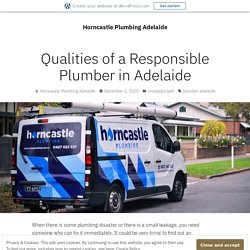 Qualities of a Responsible Plumber in Adelaide – Horncastle Plumbing Adelaide