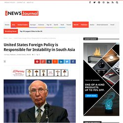 United States Foreign Policy is Responsible for Instability in South Asia