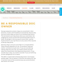 Responsible Dog Ownership - American Kennel Club